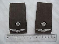 (A5-Y006) Bundeswehr Schulterklappen Leutnant Luftwaffe Klett alter Art oliv