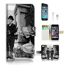 iPhone 6 6S Plus (5.5') Flip Wallet Case Cover P2511 Chaplin