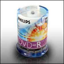 Philips 16X DVD-R 4.7GB Blank Media Pack 100pcs Premium No Spindle Recordable