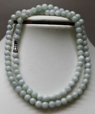 100% Natural Untreated Chinese Jadeite Jade Beads Necklace, 6mm, 20 Inches #0005