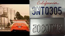 The Fast and The furious movie license plate Brian Oconnor Toyota Supra