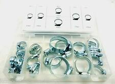 26pc Assorted Hose Clamps Set Jubilee Clips Sinc Plated in Case.