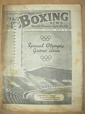 VINTAGE BOXING NEWS MAGAZINE AUGUST 13th 1952 SPECIAL OLYMPIC GAMES ISSUE