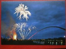 POSTCARD F1-11 DURHAM STOCKTON ON TEES - FIREWORKS OVER INFINITY BRIDGE