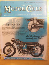 THE MOTORCYCLE JAN 1956 EXETER TRAIL ACCESSIBILITY WITH  SIDECAR & PRICE LIST OF