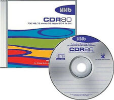 NEW HHB CDR-80 Silver Pro-Grade 700MB/80 Min Recordable Blank CD Compact Disc