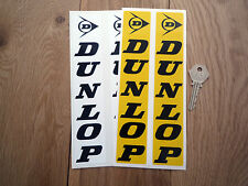 DUNLOP Fork Slider 210mm Pair Classic Car Bike Stickers Moto X Race Rally Tyres