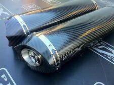 Yamaha R1 04 to 06 Pair - Carbon Oval,Carbon Outlet Exhausts, Cans, Silencers