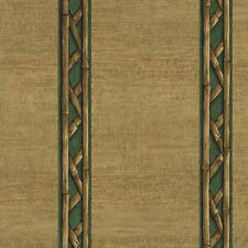 Bamboo Look Stripe Wallpaper - Green  8064229