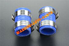 For Yamaha Banshee Rubber Exhaust Pipe Clamps all years fmf,dg,etc.New 2PCS Blue