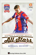 2013-14 A League Trading Cards All Stars AS12 Michael Bridges (Newcastle Jets)