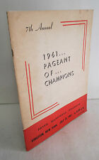 1961 PAGEANT OF CHAMPIONS Drum & Bugle Corps Program, Kingston NY