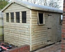 DISCOUNTED SHED 12x8 19mm t&g Tanalised Extra Height