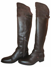TOMMY HILFIGER HAMILTON 12 C [SIZE 37 ] WOMEN'S LEATHER BOOTS BROWN