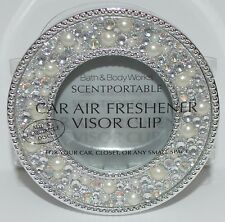 BATH BODY WORKS PEARL GEM APPLIQUE SCENTPORTABLE HOLDER CAR VISOR CLIP FRESHENER