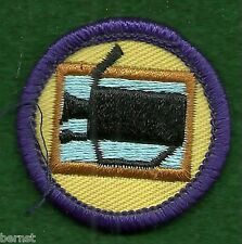 GIRL SCOUT BADGE - WORLDS TO EXPLORE  - PURPLE - VIDIO PRODUCTION - FREE SHIP