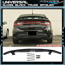For 2 Post Universal Flush Painted Gloss Black Trunk Spoiler Wing -ABS