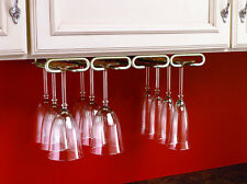 "11"" Quad Wine Glass Rack Hanger Holder Stemware Satin Nickel (Rev-A-Shelf)"