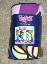 NEW 2003 BRATZ Doll Girls Passion for Fashion Plush Fleece Throw Blanket 50x60