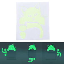 Kitty Cat Luminous Switch Wall Sticker Cartoon Kid Bedroom Home Adornment HU