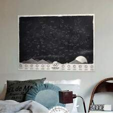 Star Map Glow in the Darkness Night Sky Constellations Chart Poster HOT 35DI