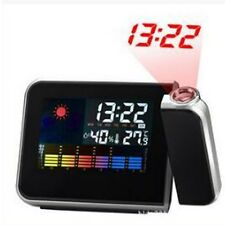 LED Digital Farbdisplay Projektor Alarm Clock Wecker Uhr Thermometer Hygrometer