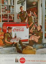1959 Coca-Cola Boy Scouts at a General Store Old Coke Machine Hiking Bottles Ad