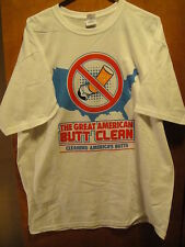 The Great American BUTT CLEAN - Cleaning America's BUTTS Blu eCigs T Shirt XL