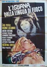 IGUANA WITH THE TONGUE OF FIRE Italian 2F movie poster 39x55 GIALLO 1971 CASARO