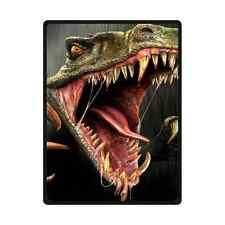 58 x 80 Inches High Quality Dinosaur Open Big Mouth Soft Throw Blanket