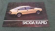 October 1983 / 1984 SKODA RAPID COUPE 1174cc - UK LEAFLET BROCHURE Estelle
