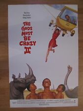 MOVIE POSTER THE GODS MUST BE CRAZY II   Original American One Sheet