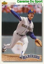 637 RICH DELUCIA SEATTLE MARINERS  BASEBALL CARD UPPER DECK 1992