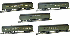 Rivarossi New York Central 60ft Passenger RPO Baggage Coaches  - Set Of 5 Cars