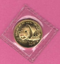 "1987 Tenth ounce (1/10) Solid Gold PANDA coin - ""S""  - Chinese ~ in Mint Plastic"