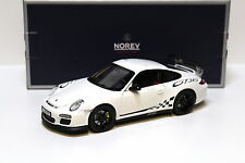 1:18 NOREV PORSCHE 911 (997) gt3 RS WHITE/BLACK NEW in Premium-MODELCARS