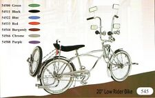 "20"" Lowrider Bike Beach Cruiser with Bent fork 72 spokes pick up color"