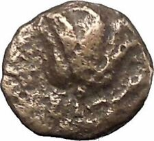 RHODES Island Off CARIA 394BC Nymph Rhodos ROSE Ancient Greek Coin i49514
