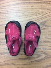 Nike Sunray Protect Baby Toddler Girls Pink/black sandals/water Shoes size 3