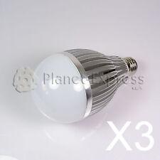 3 x Bombilla 12W LED esferica E27 Blanco Neutro 220V 960 lumen -Consumo eqv.120W
