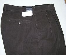 $99.50 New Jos A Bank Executive  cotton pleated front corduroy Brown 35 W x 29