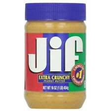 Jif Extra Crunchy Peanut Butter 16 oz (Pack of 2)