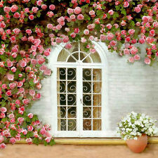 Beautiful Window With Flower 10'x10' CP Backdrop Scenic Vinyl Background XLX-934