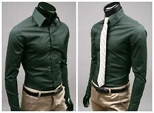 Mens Formal Casual Occasion Party Slim Fit Summer autumn winter birthday Shirt