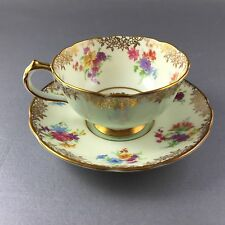 Paragon Queen Mary Demitasse Cup And Saucer Double Mark Robins Egg Blue
