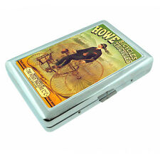 Vintage Poster D150 Silver Cigarette Case Holder Howe Bicycles Tricycles Machine