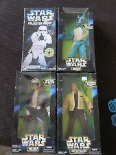"""Star Wars 12"""" 1:6 Figure Lot Luke Skywalker Greedo Han Solo Stormtrooper  NIB"""