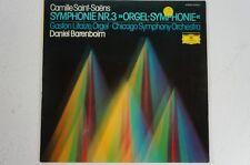 Saint Saens Sinfonie 3 Orgel Sinfonie Gaston Litaize Daniel Barenboim CSO (LP31)