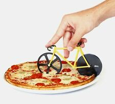 Fixie Bicycle Shaped Pizza Cutter Bumblebee Doiy Two Cutting Wheels Great Gift