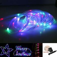 5M 50LED RGB Solar Powered Waterproof Tube Light Outdoor Fairy String Rope USA